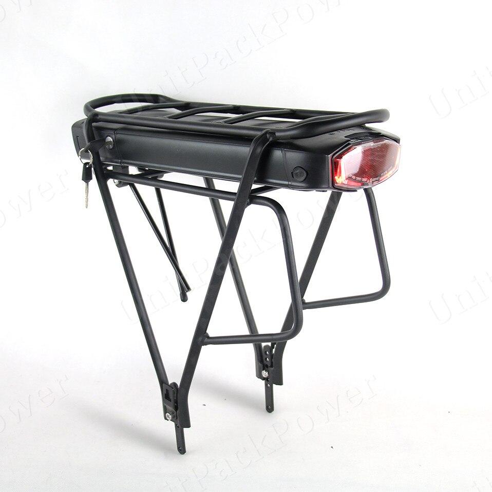 Livraison gratuite Rack style E-bike Batterie 36 V 17.5Ah Vélo Électrique Au Lithium ion Batterie avec Rack
