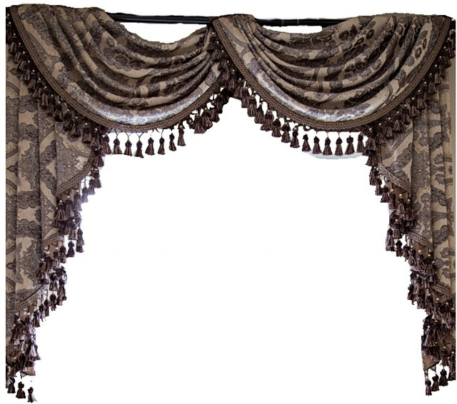 On Sales Europe Luxury Chenille Jacquard Curtains Valances Cortinas For Living Room