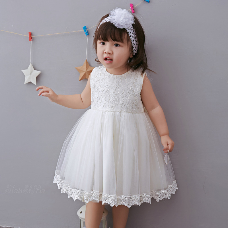 Christening Gowns From Wedding Dresses: 2018 New White Children Girl Baby Infant Baptism Gowns
