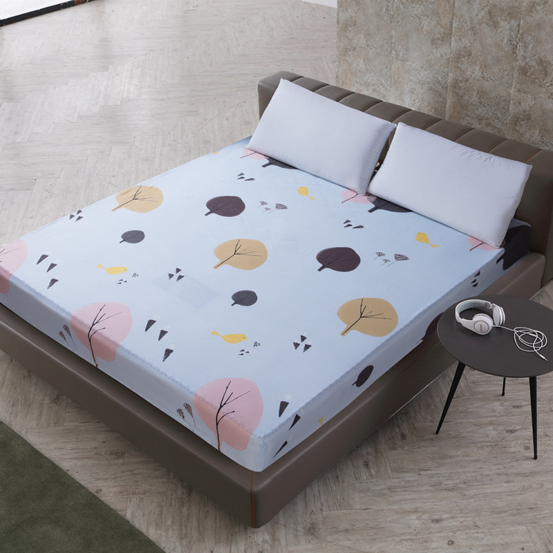 2018 hot new style Cute Pattern Bed Set New Coming Waterproof Mattress Pad Protector Mattress Cover Fitted Sheet Separated in Mattress Covers Grippers from Home Garden
