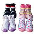 Los niños Zapatos de Niño Calcetines de Algodón Bebé Calcetines Recién Nacidos Del Bebé Antideslizante Calcetines Con Suela De Goma Ws931