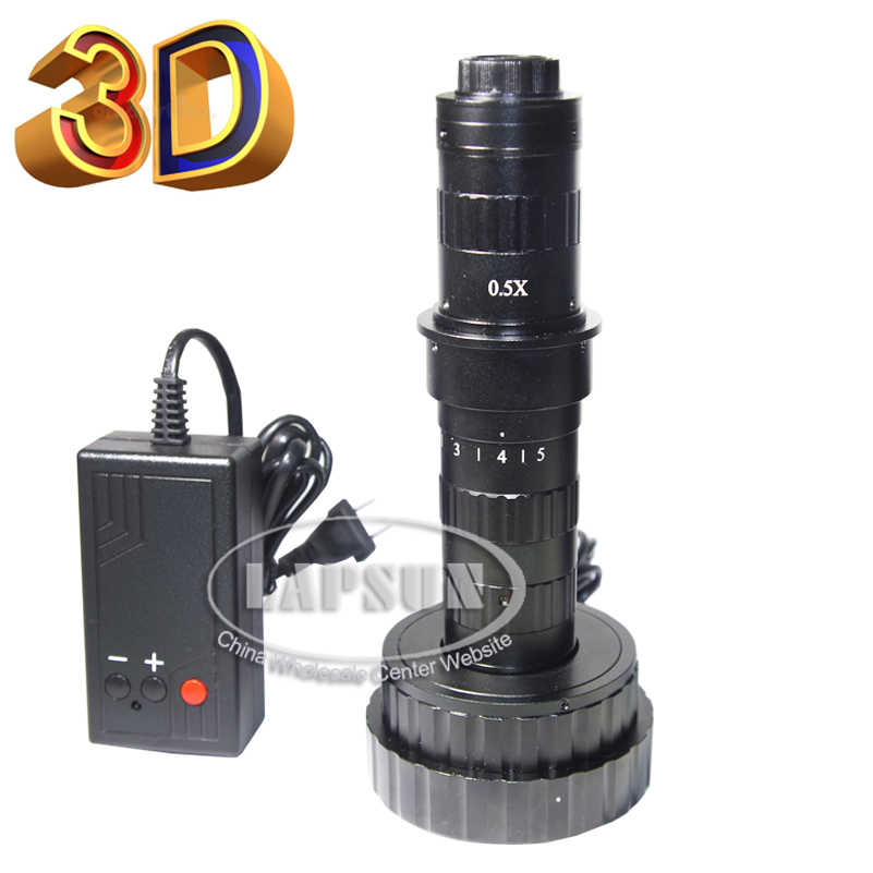 3D Stereo & 2D (2 models) 200X Stereo Display Zoom C-Mount Lens for Digital Industrial Microscope Camera