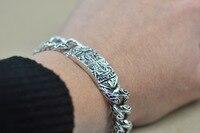 Браслет homme серебряный браслет S925 Стерлинг ручной цепи мужчин highend античный дизайн и старинный дизайн античного камень в