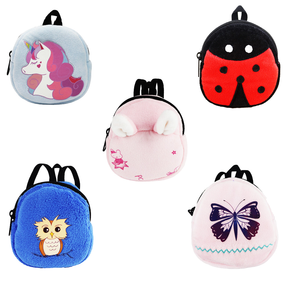 Accessories for Dolls 5 animals Bags unicorn backpack For 18inch American Doll/17 inch baby doll/ 16''Nenuco doll Best Gifts(China)