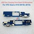 Novas peças de reposição originais porta usb doca de carregamento do carregador placa & microfone para htc desire 816 d816t d816v transporte rápido