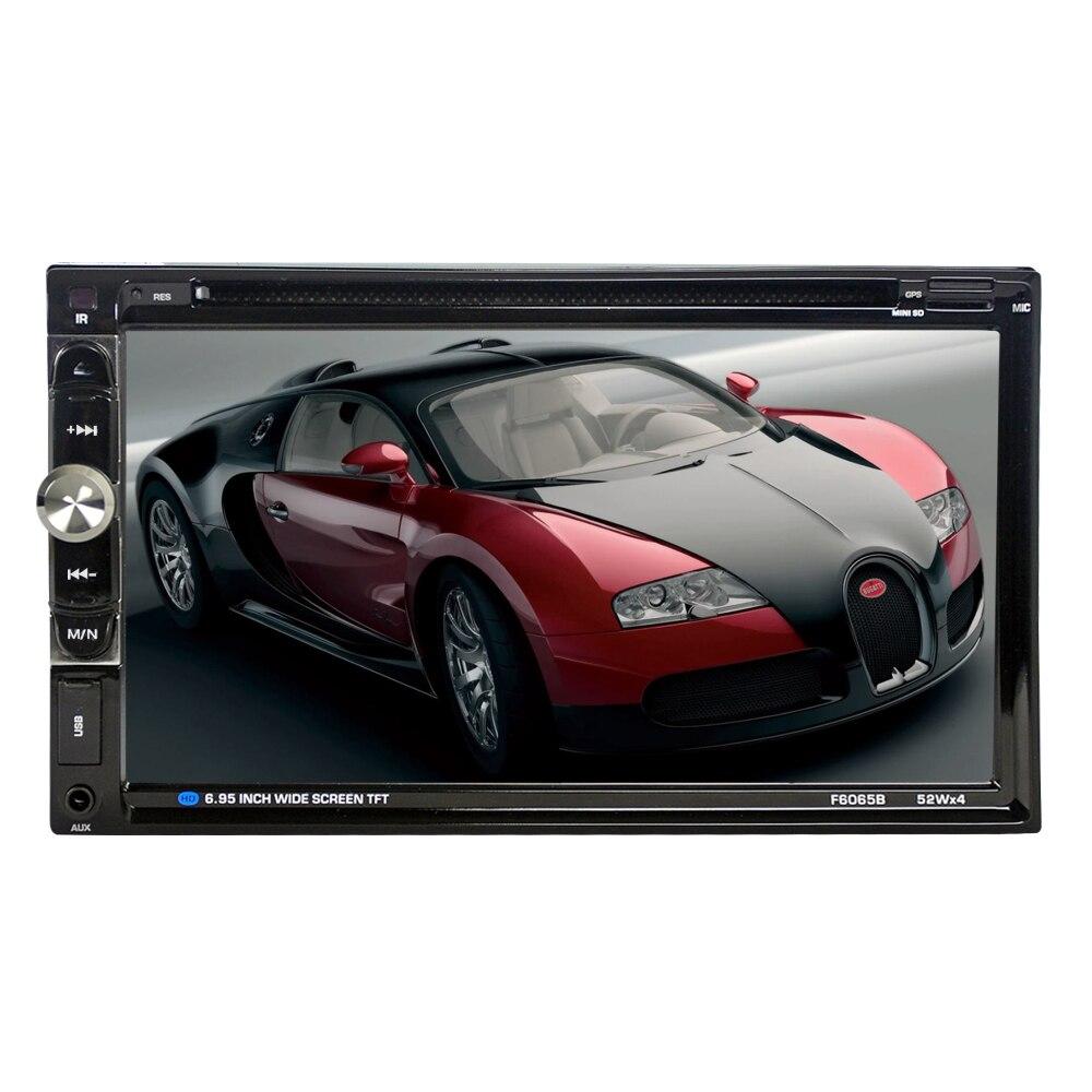 "6065B Universal 2 Din Car DVD player 6.95"" Car Autoradio Video/Multimedia MP5 Player mp4 Car Stereo audio player car DVD-in Car CD Player from Automobiles & Motorcycles"