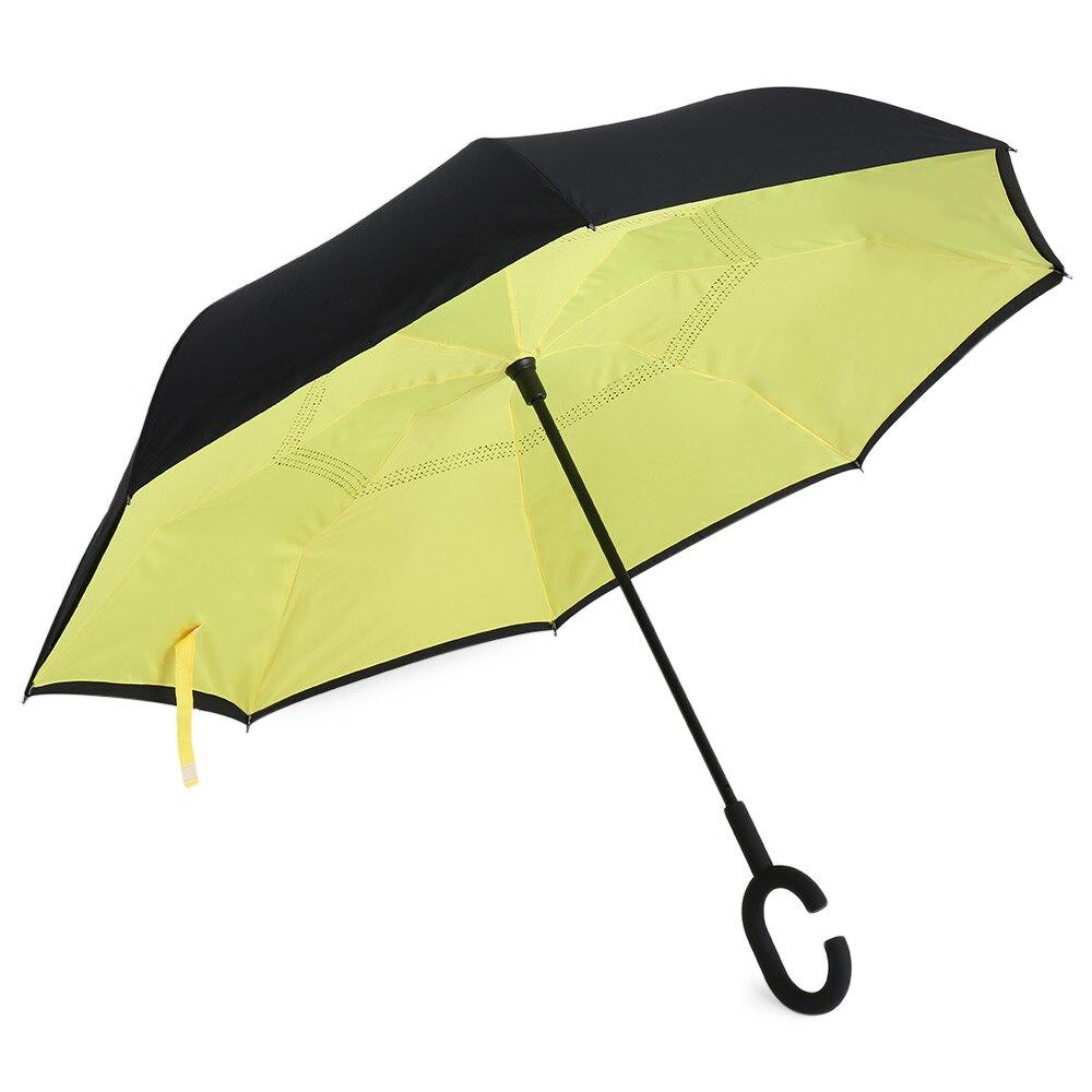 online shop windproof reverse folding umbrella double layer