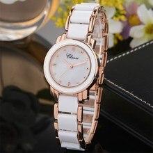 CHENXI Femmes montres Nouveau Style Blanc En Céramique Quartz Montre-Bracelet De Luxe Marque De Mode Dames Montre Femmes Montre À Quartz Horloge NATATE