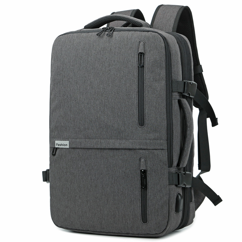 Backpack Men New Business Multifunctional USB Charging 17.3 Inch Laptop Backpack Bolsa Mochila Waterproof Travel School Bag-in Backpacks from Luggage & Bags    1