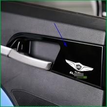 Estilo do carro Caixa De Luva Pega Da Porta Interior Tigela Tampa Quadro Lantejoulas Guarnição Acessórios Do Carro Para HYUNDAI ELANTRA AVANTE AD 2016 2017