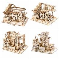 1 шт./Партия DIY Magic gear Drive Ball Crash деревянная игра модель строительные наборы игрушки подарок для детей