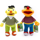 Cartoon Sesame Street Elmo Ernie & Bert Short Plush Toys Elmo Kids Educational Cloth Dolls Cartoon Puppets Children Gift 28cm