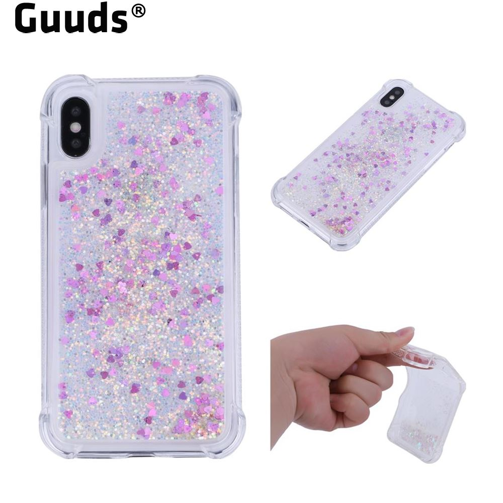Guuds for iPhone Cover Dynamic Liquid Glitter Sand Quicksand Star TPU Case for iPhone X 10 ten 8 7 6s 6 SE 5s 5 5G FREE SHIPPING