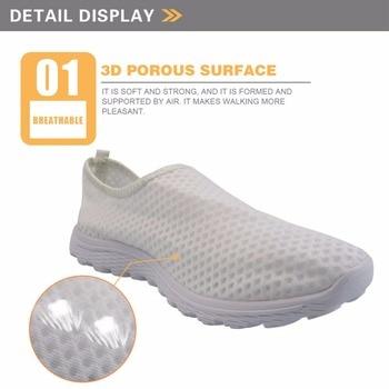 INSTANTARTS 귀여운 간호사 패턴 여성 봄 여름 플랫 신발 3D 만화 간호 경량 메쉬 신발 여성 비치 로퍼 1