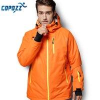 COPOZZ Snowboard Ski Jacket Men Winter Hooded Warm Parkas Waterproof Male Snow Jacket for Hiking Camping Skiing S XXL Size