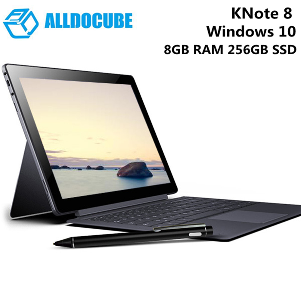 ALLDOCUBE KNote8 Tablet PC With Keyboard 13.3 Inch Windows 10 Intel Kaby Lake 7Y30 Dual Core 1.0GHz 8GB 256GB SSD WiFi Tablets