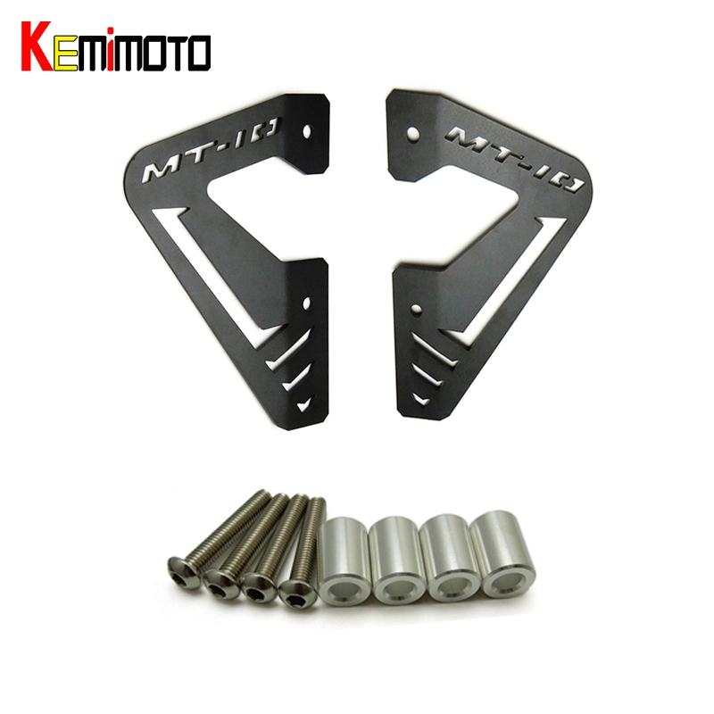 KEMiMOTO MT10 MT 10 Motorcycle Accessories Radiator Protector Cover Plates Guard for YAMAHA MT-10 2016 2017