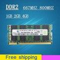 Venda 1 gb 2 gb 4 gb DDR2 DDR 2 667 800 667 mhz 800 mhz PC2-6400 1g 2g sodimm sdram PC2-5300 Memória Ram Memoria Para Computador Portátil Notebook