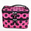 Retro Dot Beauty Case Makeup Large Cosmetic Set Toiletry Bag Womens