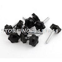 10pcs Replacement M8 X 40mm Hexagonal Clamping Knob Grip 32mm Dia
