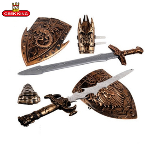 GEEK KING  Children Toys Swords Shiled Bow And Arrow Sword Shield Sucker Simulation Archery Plastic SwordsToy