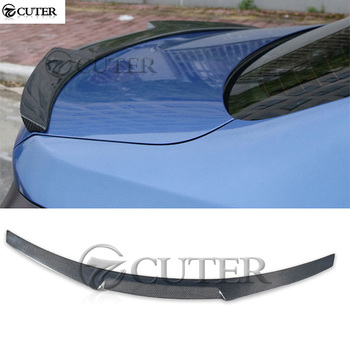 F33 M4 F83 Carbon fiber Rear Wings trunk Lip Spoiler For BMW 4 series 428i 435i F33 M4F83 car body kit 13-18 image