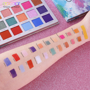 Image 5 - Docolor 21 色のアイシャドウパレット 2 タイプマットアイシャドウグリッターパレット長期的なメイクアップアイシャドウパレット
