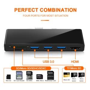 Image 3 - Концентратор Rocketek 4K HDMI и usb 3,0 кардридер/1000 Мбит/с гигабитный Ethernet адаптер для SD/TF micro SD Microsoft Surface Pro 3/4/5/6