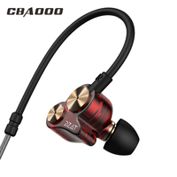 Double Unit In Ear Earphone Two Unit Driver Earbuds DIY HIFI Bass Subwoofer Headset With Mic