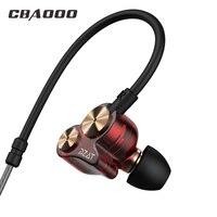 Mit Video Doppeleinheit In-ohr Kopfhörer DZAT DT05 Zwei Einheit Fahrer Ohrhörer HIFI Bass Subwoofer Headset mit Mikrofon