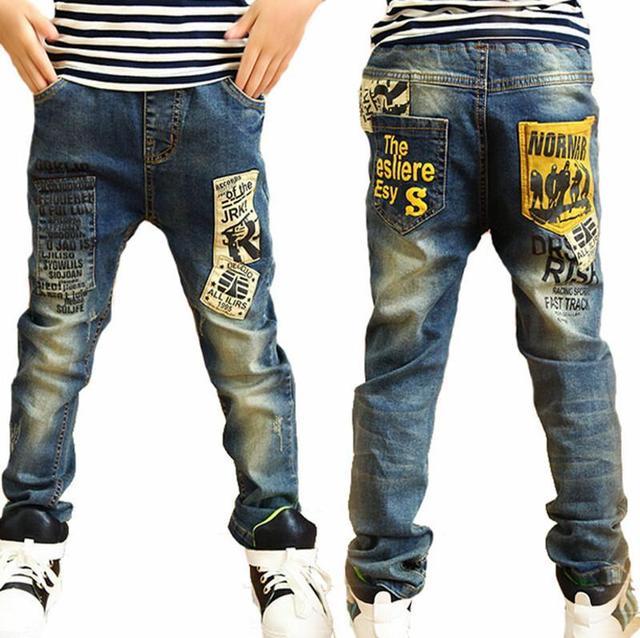 Moda de alta qualidade crianças jeans para meninos, slim fit Coreano calças de brim das crianças, calças dos bebés, crianças menino calças de brim Frete Grátis