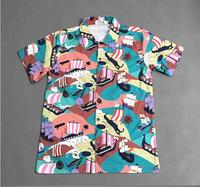 High New 2017 Men sailboat Button Down Fashion Cotton Casual Shirts Shirt high quality Pocket short sleeves Top S 2XL #C42
