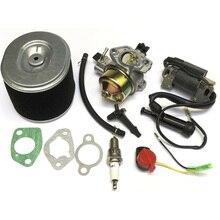 10 шт./компл. карбюратор, катушка, прокладки, комплект воздушного фильтра, подходит для Honda GX340 GX390 11HP/13HP, замена двигателя, моторный инструмент, детали