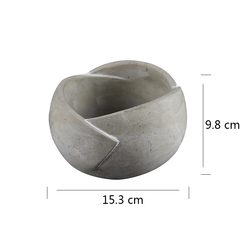 Craft Bonsai Flowerpot Silicone Mold for Concrete Planter Mould Handmade Cement Decoration Tool in Clay Molds from Home Garden