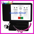 W3045 Double-side Reading Letters and Numbers Led Illuminated Near Vision Amsler Grid Visual Acuity Test Chart Lowest Shipping