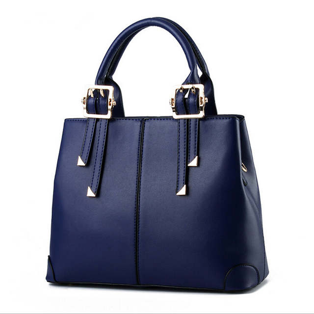 6f68e3e229a7 Fashion Brand Women PU Leather Handbags Vintage Satchel Bags Cross Body  Shoulder Bags Ladies Black Blue