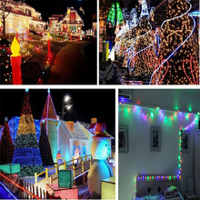 2017 Waterproof 10M 50LED Solar String Fairy White Lights Solar Panel For Party Xmas Outdoor Garden