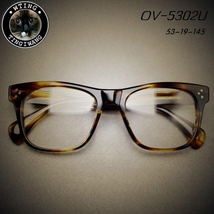 brand oliver discount glasses vintage square eyeglasses frame man woman myopia eyeglass new arrive retro optical