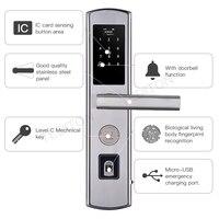 Smart Digital Door Lock Electronic Fingerprint Door Lock Keyless Lock Control Smart Biometric Double sided Fingerprint Door Lock