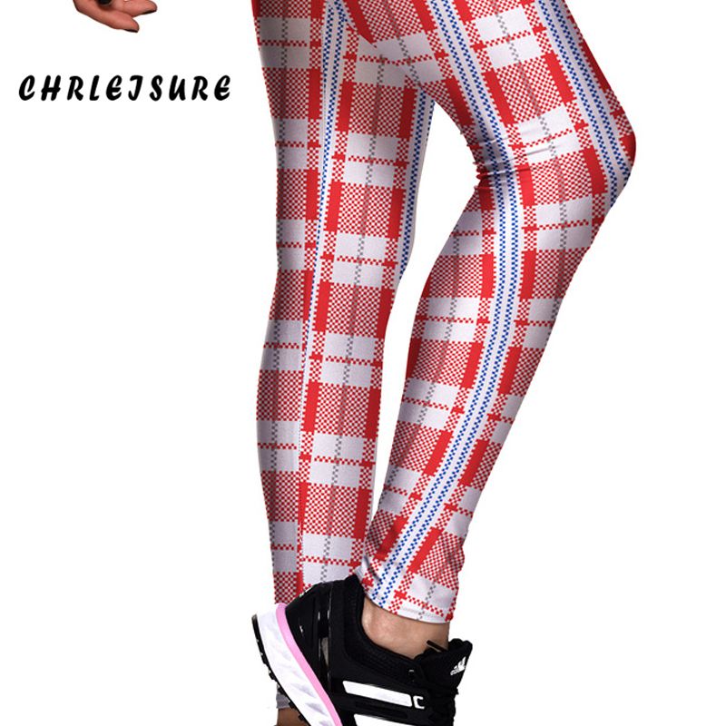 f4b0dcb1d2f1f CHRLEISURE Pink Plaid Geometry Grid Work Out Leggings Breathable Stretch  Big Size Body Building Women Printed Trousers Pants-in Leggings from  Women's ...