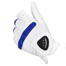 Перчатки для гольфа мужские левые мягкие супер волоконные дышащие перчатки для гольфа уличные аксессуары
