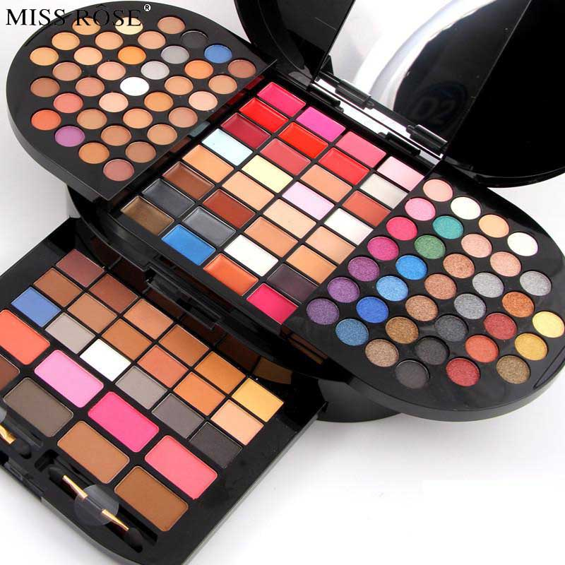Miss Rose Professional Makeup Kit for Women Waterproof Long Lasting Pigment Face Eyeshadow Lips Contour Luxury Makeup Set us au standard touch switch crystal glass panel wall light touch dimmer switch gold black white