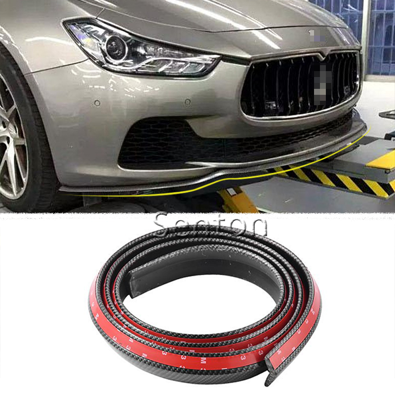Car Carbon Fiber Front lip 2.5M Styling For Audi A3 A4 B6 B8 B7 B5 A6 C5 C6 Q5 A5 Q7 TT A1 S3 S4 S5 S6 S8 Accessories