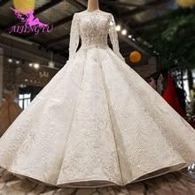 AIJINGYU искусственное платье для старших невест 2021 индийское британское Австрийское качество платье в стиле принцессы Свадебные платья для продажи