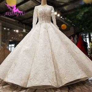 Image 1 - AIJINGYU Plus Size Đồ Bầu Lớn Tuổi Hơn Cô Dâu Ấn Độ Năm 2021 Anh Áo Chất Lượng Phong Cách Công Chúa Váy Cưới Có Bán