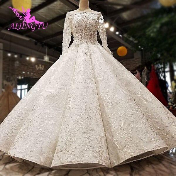 AIJINGYU Plus Size Đồ Bầu Lớn Tuổi Hơn Cô Dâu Ấn Độ Năm 2021 Anh Áo Chất Lượng Phong Cách Công Chúa Váy Cưới Có Bán