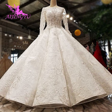 AIJINGYU Plus Size Dress Gowns For Older Brides 2021 Indian Uk Austria Quality Princess Style Gown Wedding Dresses For Sale