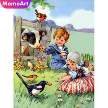 MomoArt Diamond Painting Child Cartoon Embroidery Full Square 5d Mosaic Animal Home Decoration