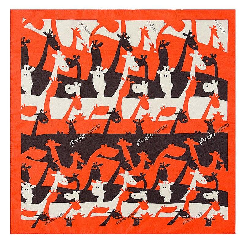 Kreativ 60 Cm Damenschals 60 Cm 2019 Neue Mode Cartoon Giraffe Print Frauen Luxus Marke Twill Seide Schal Kleinen Platz Schals Hijab Stirnband Das Ganze System StäRken Und StäRken