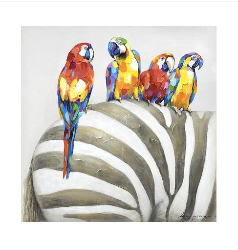 Animal Wall Art Elephant Zebra Abstract Parrot Hand Painted Oil Painting On Canvas Printing Home Decor Picture For Living room-in Painting u0026 Calligraphy ...  sc 1 st  AliExpress.com & Animal Wall Art Elephant Zebra Abstract Parrot Hand Painted Oil ...
